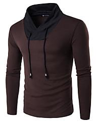 Для мужчин На каждый день Офис Спорт Простое Активный Обычный Пуловер Контрастных цветов,Красный Черный Коричневый V-образный вырез