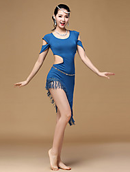 RobesModalFemme Frange (s) Entraînement Danse latine Taille haute