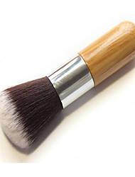 1 Foundation Brush Synthetic Hair / Others Limits bacteria / Portable Wood Face Others