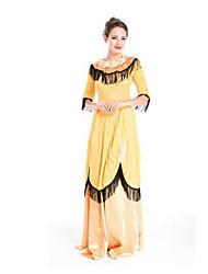 Fest/Feiertage Halloween Kostüme Gelb einfarbig Rock Halloween / Weihnachten / Karneval Frau