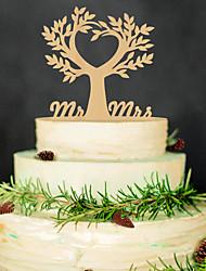 The wedding cake inserted card Wedding wedding cake inserted personalized wedding wedding decoration wood plug