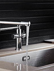 PHASAT® Deck Mounted Two Handles One Hole with Chrome Kitchen faucet