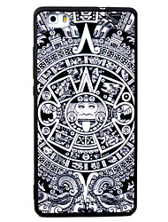 For Huawei P8 P9 P8Lite P9Lite Y5 II Honor5A Honor8 Mate7 Ring Pattern TPU Material Painted Relief Phone Case