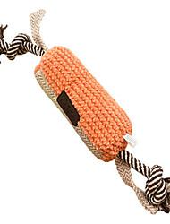 Hundespielzeug Haustierspielsachen Interaktives Seil Grün Orange Gewebe