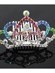 Women Cubic Zirconia Hair Comb,Casual