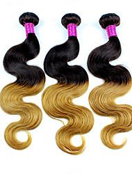 3 Pieces Ombre Hair Weaves Peruvian Body Wave Hair Extension