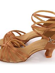 Sapatos de Dança(Preto / Outro) -Feminino-Não Personalizável-Latina