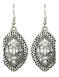 Indian Design Silver Color Big Earrings