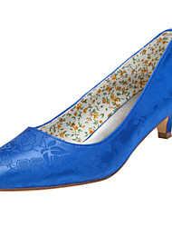 Women's Heels Spring / Fall Others Stretch Satin Wedding / Party & Evening / Dress Kitten Heel Others Royal Blue Others