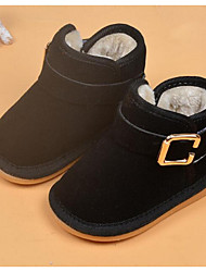 Girl's Boots Comfort Suede Casual Black / Peach / Khaki