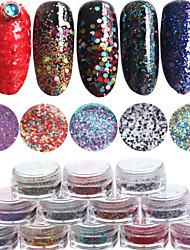 12pcs/set Nail Art Decoration Rhinestone Pearls Makeup Cosmetic Nail Art Design