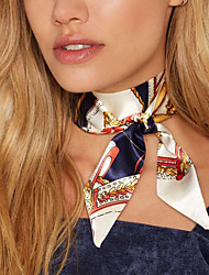 Women Fashion Temperament Printing Gauze Scarf Necklace Fabrics Collar For Women  1pc
