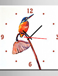 E-HOME® Bird on The Lotus Branch Clock in Canvas 1pcs