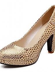 Damen-High Heels-Büro Lässig Kleid-Kunstleder-StöckelabsatzGold Weiß Blau