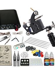 1 x Stahl-Tattoomaschine für Umrißlinien und Schattierung Mini Stromversorgung 5 x Tattoonadeln RL 3 1PCS 1 x Alu-Griff 1 × 5mlStarter