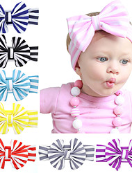 Baby Flower Hair Bands Girl Striped Knot Headband Kids Turban Knitted Hair Accessories Children Cross Headwear