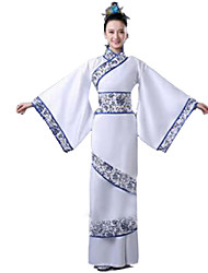 Party Costume Festival/Holiday Halloween Costumes White Solid Dress Female