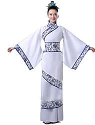 Festa a Fantasia Festival/Celebração Trajes da Noite das Bruxas Branco Cor Única Vestido Feminino