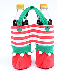 2PCS Christmas Decorations Christmas Sprite Bag Christmas Sprite Cola Bag Christmas Candy Bag Table Decorations