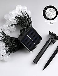 Jiawen 4.5m 30LEDs 8 modes extérieur solaire waterproof led string