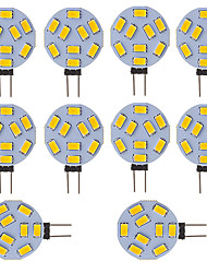 3W G4 Luces LED de Doble Pin Tubo 9 SMD 5730 210 lm Blanco Fresco V 10 piezas