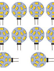 3W G4 Luminárias de LED  Duplo-Pin Tubo 9 SMD 5730 210 lm Branco Frio V 10 pçs