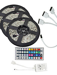 15M(3*5M) 5050 RGB 450 LEDs Strip Flexible Light LED Tape String Lights waterproof DC 12V 450LEDs with 44Key IR Remote Controller Kit