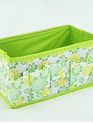 Solid Nylon Waterproof Green Normal 1 Cosmetic Bag