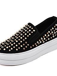 Women's Sneakers Fall Platform Leatherette Casual Wedge Heel Rivet