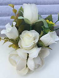 Bouquets de Noiva Rosas / Peônias Alfinetes de Lapela Casamento / Festa / noite Cetim