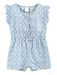 Girl's Dress,Cotton Summer / Spring Blue
