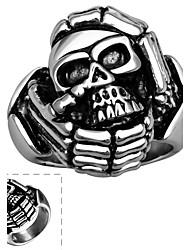 Ringe Halloween / Alltag / Normal / Sport Schmuck Edelstahl Herren Ring 1 Stück,8 / 9 / 10 Silber