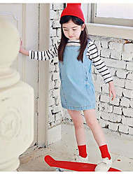 Girl's Casual/Daily / Sports Solid Dress,Cotton Winter / Fall Sleeveless