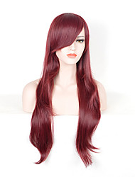 Fashion Women Red Color Synthetic Wigs Long Straight Wigs