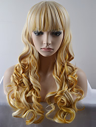Europe and the United States Ms. New Year long section of high-temperature silk hair wig