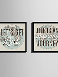 E-HOME® Framed Canvas Art The Significance of Travel Framed Canvas Print Set Of 2
