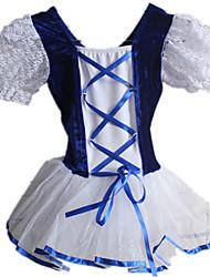 Fantasias Vestidos Mulheres / Crianças Actuação Nailon / Renda / Tule / Veludo / Licra Renda 1 Peça Manga Curta Tutus