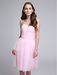 LAN TING BRIDE Knee-length Sweetheart Bridesmaid Dress - Short Sleeveless Tulle