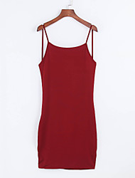 sexy / bodycon / praia / casual / festa vestido sem mangas halter midi das mulheres