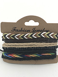 Bracelet Bracelet / Loom Bracelet / Leather Bracelet Leather Gift / Casual / Outdoor Jewelry Gift Multi Color,1set