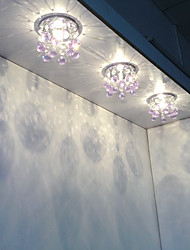 Modern Crystal LED Ceiling Light Fixture Chandelier in Pink Color