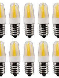 2W E14 LED Doppel-Pin Leuchten T 4 COB 230-250 lm Warmes Weiß / Kühles Weiß V 10 Stück