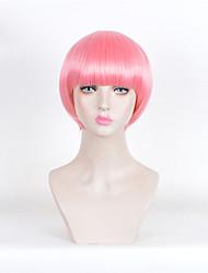 короткие прямые розовые термостойкие синтетические парики дешевый косплей боб париков