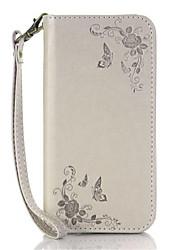 Pour Porte Carte / Avec Support / Clapet Coque Coque Intégrale Coque Fleur Dur Cuir PU pour Nokia Nokia Lumia 640