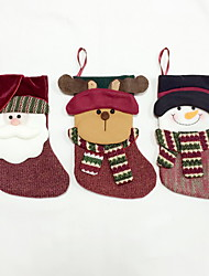 High Quality M Size Textile Christmas Stocking