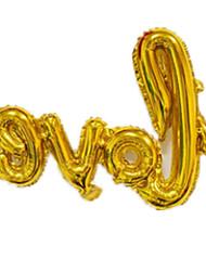 Balões Decoração Para Festas TPU Dourada Para Meninos / Para Meninas 2 a 4 Anos / 5 a 7 Anos / 8 a 13 Anos