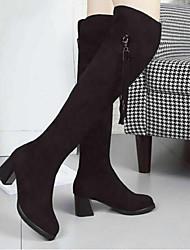 MujerConfort-Botas-Casual-Vellón-Negro