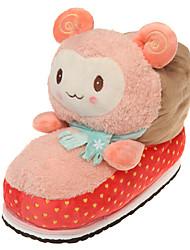 Для женщин Тапочки и Шлепанцы Удобная обувь Флис Весна Осень Зима Повседневные Удобная обувьЖелтый Пурпурный Синий Розовый