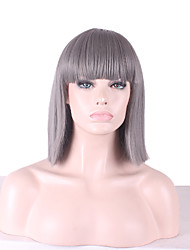 Bob Short Full Side Bang Straight Synthetic Wigs for Women Heat Resistant Costume Cheap Cosplay Wigs