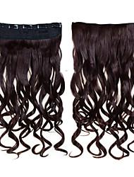 24inch 60cm 120g Farbe 33 # Clip innen auf Haarverlängerung wellenförmigen Clip auf Haarteile